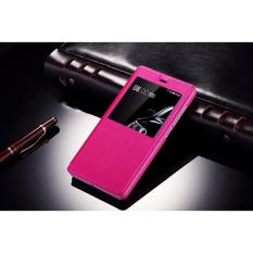 Hot Pink S View Leather Flip Case Casing Cover For Xiaomi Redmi 4A Free Shipping