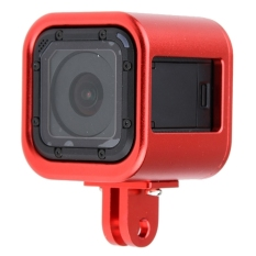 Low Price Housing Shell Cnc Aluminum Alloy Protective Cage With Insurance Back Cover For Gopro Hero4 Session Red