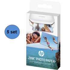 Buy Hp Sprocket Zink Sticky Backed 2 X 3 Photo Paper 5 Sets 100 Sheets Online