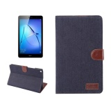 Huawei Mediapad M3 Lite 8 Denim Texture Horizontal Flip Leather Case With Holder And Card Slots And Wallet And Photo Frame Dark Blue Intl Shop