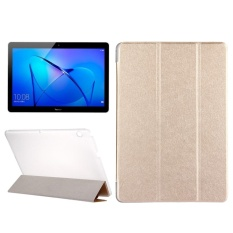 Get The Best Price For Huawei Mediapad T3 10 9 6 Inch Silk Texture Horizontal Flip Leather Case With 3 Folding Holder Gold Intl