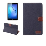 Best Reviews Of Huawei Mediapad T3 8 Inch Inch Denim Texture Horizontal Flip Leather Case With Holder And Card Slots And Wallet And Photo Frame Dark Blue Intl