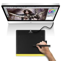 Huion 680TF Graphics Art Drawing Tablet Painting Pad Card USB Rechargeable Pen - intl