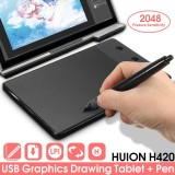 Huion H420 Pro Pad Graphics Drawing Writing Usb Art Tablet Board Mat Digital Pen Intl On China