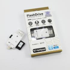 Shop For I Flashdevice Hd Tf With Sd Card Reader Usb Flash Drive For Iphone Ipad Samsung Android Pc White