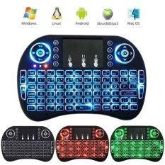 Great Deal I8 Mini 2 4Ghz Wireless Touchpad Keyboard With Mouse For Pc Pad Xbox 360 Ps3 Google Android Tv Box Htpc Iptv Black Intl
