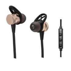 Iberl 1Pc Sport Wireless Bluetooth Headphone Stereo Super Bass Headset Earphones Magnetic Gold Intl Free Shipping