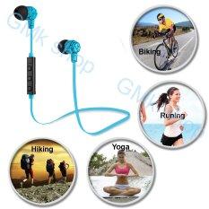 Price Comparisons For Iberl Bluetooth Earset Wireless Earphone Bluetooth 4 Sport Headsets Sweat Proof Earbud Blue Intl