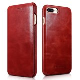 Who Sells Icarer Curved Edge Vintage Series Corrected Grain Genuine Leather Case With Magnetic Closure For Apple Iphone 7 Plus 5 5Inch Intl The Cheapest