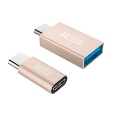 Where To Shop For Iczi Usb C 3 1 Type C To Micro Usb Adapter Usb C 3 1 Type C To Usb 3 Converter For Macbook Pixel Htc 10 Lg G5 Gold Intl