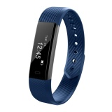 Sale Id115 Android Pedometer Fitness Tracker Bluetooth 4 Smart Watch Bracelet Blue Intl China Cheap