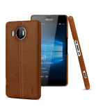 Imak Classy Leather Case For Microsoft Lumia 950Xl Brown For Sale