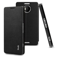 Sale Imak Count Leather Flip Case For Microsoft Lumia 950Xl Black Imak Wholesaler