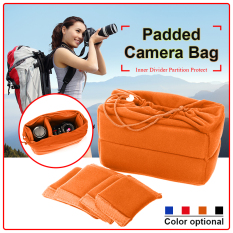 Insert Padded Camera Bag Dslr Inner Folding Divider Partition Protect Case Intl Deal