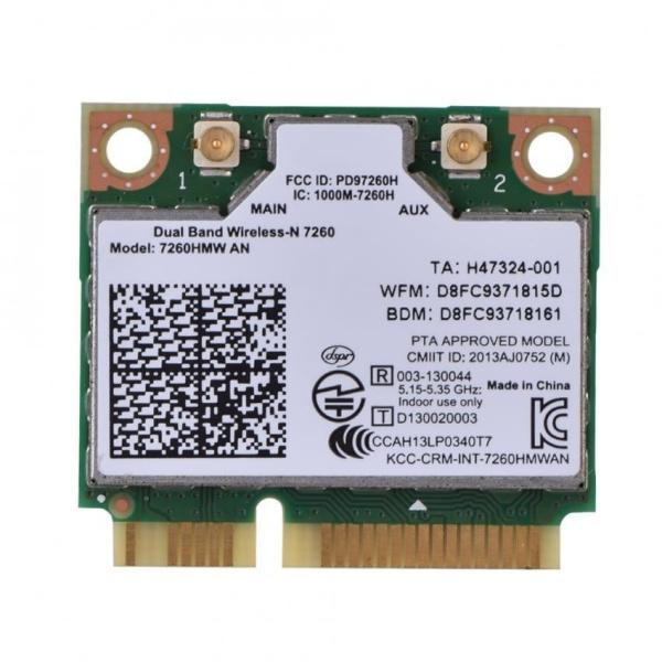 Intel 7260AN 7260HMW mini PCI-E 300M Bluetooth 4.0 Dual Band Wireless WiFi Card - intl
