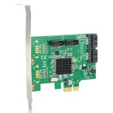 Discount Iocrest Marvell 88Se9215 Chipset Sata Iii 6Gbps 4 Port Pci Express Controller Card Iocrest
