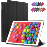 Discount For Ipad Air Case Black Slim Fit Smart Rubber Coated Case Non Slip Surface Cover Light Weight Auto Wake Sleep For Apple Ipad Air Model A1474 A1475 A1476 Retina Display
