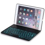 Sale Ipad Air Keyboard Case F8S Wireless Bluetooth Clamshell Protective Keyboard With 135 Degree Rotation Case And 7 Colors Led Backlit For Apple Ipad Air 1 Black Export Online On China