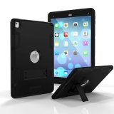 Where To Buy Ipad Pro 9 7 Case Heavy Duty Shockproof Series High Impact Resistant Hybrid Armor Defender Full Body Protective Case For Apple Ipad Pro 9 7 With Built In Kickstand Black Export
