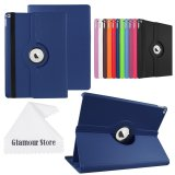 For Ipad Pro Case 360 Degrees Rotating Stand Leather Stand Case Smart Cover For New Apple Ipad Pro 12 9 Inch With A Free Cleaning Cloth As A Gift Dark Blue Intl Lowest Price