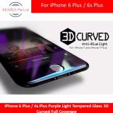 How To Get Iphone 6 Plus 6S Plus Purple Light Tempered Glass 3D Curved Full Coverage