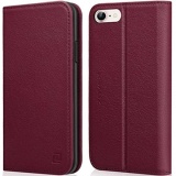 Iphone 8 Case Iphone 7 Case Zover Genuine Leather Case Flip Folio Book Case Wallet Cover With Kickstand Feature Card Slots Id Holder And Magnetic Closure For Iphone 7 And Iphone 8 Wine Red Intl Best Price