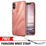 Iphone X Case Ringke Flow Minimalist Wavy Textured Flexible Tpu Cover Drop Protection Shock Absorption Technology For Apple Iphone X Rose Gold Crystal Intl Coupon Code