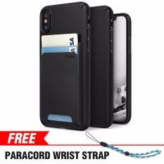Iphone X Case Ringke Slim Laser Cutouts Pc Hard Cover Wallet Slot Attachment Drop Protection Shock Absorption Technology For Apple Iphone X Black Intl Coupon