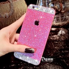 Top Rated Iphone6 Plus Case Glitter Powder Rhinestone Bling Luxury Diamond Clear Crystal Back Cover Sparkle Phone Case For Iphone6 Plus Case 5 5 Inch Pink Intl
