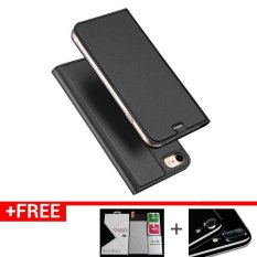 Price 3Pcs New Flip Cover Leather Case With Stand Function And Card Pocket Shockproof Phone Case And Protector For Iphone 7 Grey Dux Ducis New