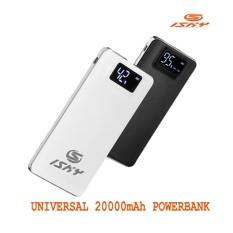 How To Buy Isky 20000Mah Powerbank Power Bank Universal Lcd Digital Display Quick Charge Dual Usb White
