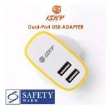 Compare Prices For Isky 2 1A 2 Port Usb Charger Wall Charger Usb Adapter With Sg Safety Mark