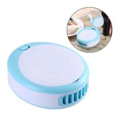 jaywog Summer Cooler Mini Portable Usb Fan Handheld Bladeless Fan With Makeup Mirror(Blue) - intl