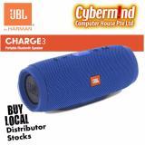 Jbl Charge 3 Portable Waterproof Bluetooth Speaker Blue Jbl Discount
