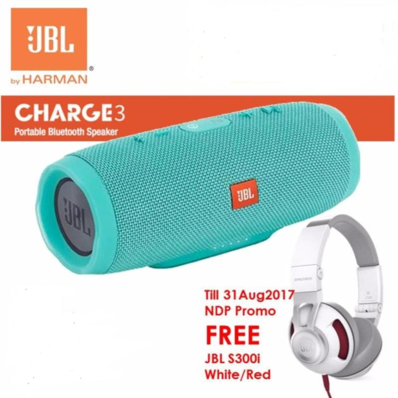 JBL Charge 3 Portable Waterproof Bluetooth Speaker (Till 31Aug2017:Free S300i ) Singapore