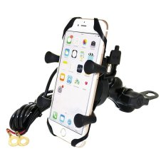 Sale Jdm Motorcycle Cell Phone Holder Mount With Usb Charger Waterproof Handlebar Rearview Mirror Accessories Clip For Mobile Phone Gps Intl Online On China