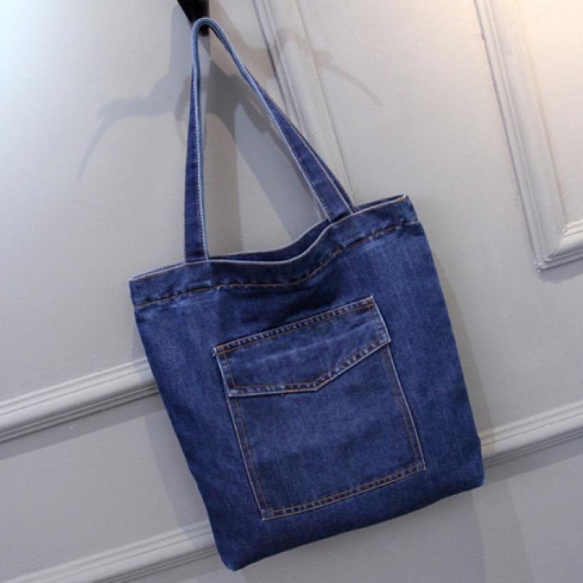 Joy Korea Korean Fashion Woman S One Shoulder Denim Bag Dark Blue Intl Price Comparison
