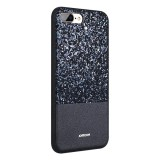 Cheapest Joyroom For Iphone 8 Plus And 7 Plus Pc Tpu Pu Glitter Powder Protective Back Cover Case With Ring Holder Black Intl