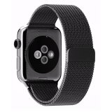 Compare Jts Milanese Stainless Steel Fully Magnetic Closure Clasp Bracelet Mesh Metal Loop Band Strap For Apple Watch All Models 42Mm Black Prices