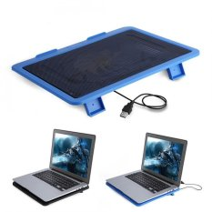Justgogo Laptop Cooler Cooling Pad Base Big Fan USB Stand for 14 or Below Notebook Blue - intl