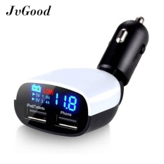 Jvgood 2-Port Usb Car Charger Quick Charge 3.0 Dual Port (max 3.4a) With Led Screen Display And Voltage Alarm For All Devices - Intl By Jvgood.