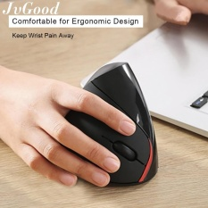 Jvgood 2 4G Wireless Vertical Ergonomic Mouse Optical Mice 800 1200 1600Dpi For Computer Laptop Macbook Black Intl Coupon Code