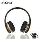 Sales Price Jvgood Over Ear Bluetooth Headphones Foldable Wireless Bluetooth Stereo Headset Wired Headphone Earphone With Hands Free Call Working With Microphone All 3 5 Mm Music Device And Mobile Phone Black Gold Intl