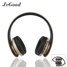 Purchase Jvgood Over Ear Bluetooth Headphones Foldable Wireless Bluetooth Stereo Headset Wired Headphone Earphone With Hands Free Call Working With Microphone All 3 5 Mm Music Device And Mobile Phone Black Gold Intl Online