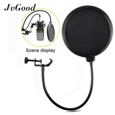 Jvgood Studio Microphone Pop Filter Round Shape Mic Wind Mask Shield Screen With Stand Clip - Intl By Jvgood.