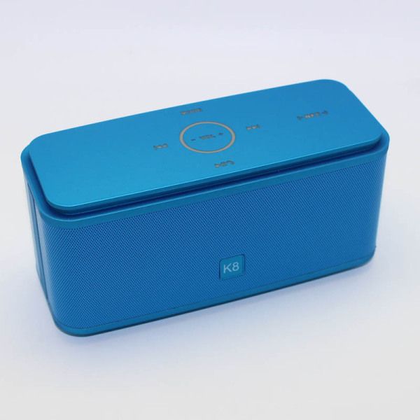 K8 Wireless Bluetooth Speaker Touch NFC Double Horn Subwoofer (Blue) Singapore