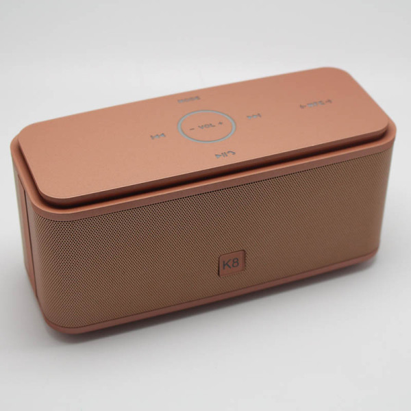 K8 Wireless Bluetooth Speaker Touch NFC Double Horn Subwoofer (Gold) Singapore