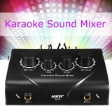 Coupon Karaoke Sound Mixer Dual Mic Inputs With Cable For Stage Home Ktv Black G7G1 Intl