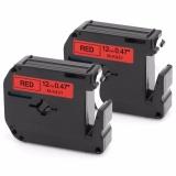 Retail Price Kenight 2 Pack M431 M K431 Label Tape Compatible For Brother P Touch Labeler Black Print On Red M Tape M K431Bz Mk431 12Mm X 8M Pt45M Pt55Bm Pt55S Pt65 Pt65Sb Pt70 Pt80 Pt85 Pt90 Pt100 Pt110 Intl