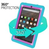 Kid Rugged Shockproof Protective Cover Case For Amazon Kindle Fire 7 2015 Tablet Blue Intl Reviews